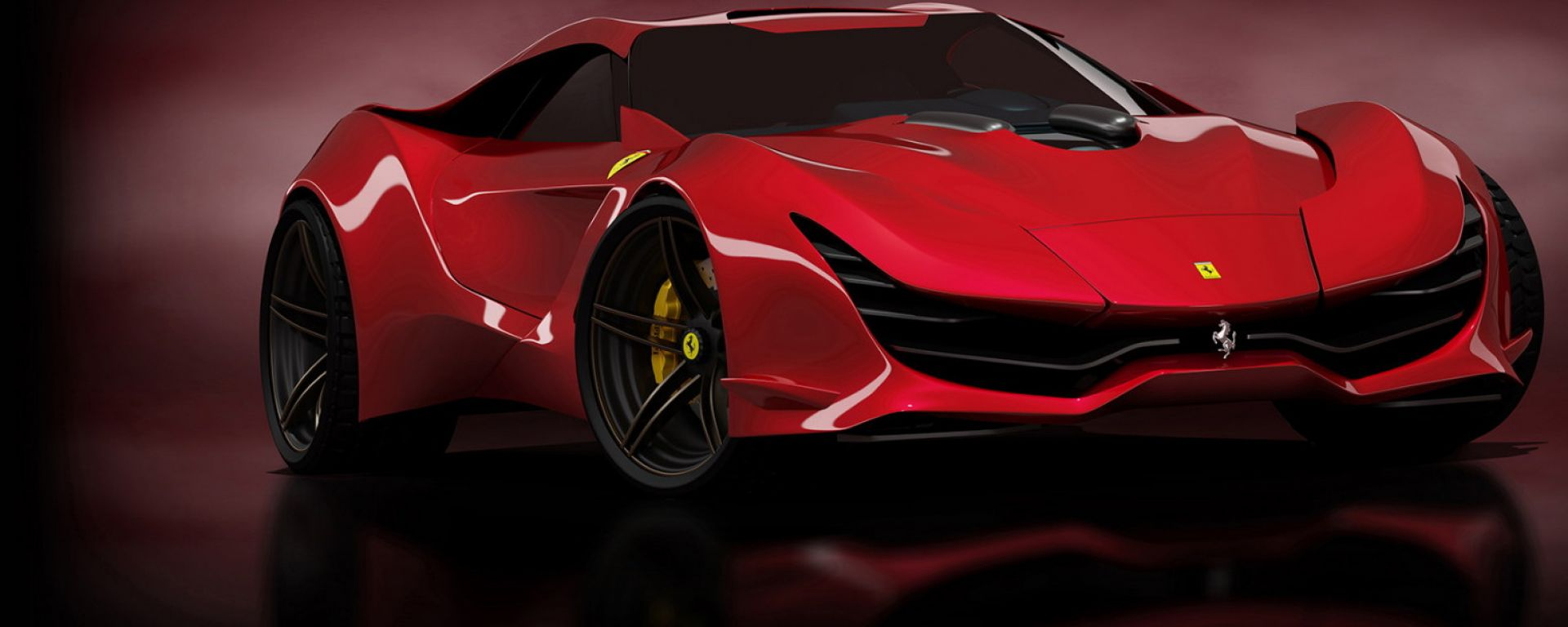 Ferrari Cascorosso, il rendering di Dejan Hristov