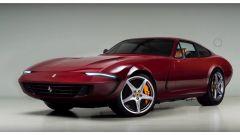 Ferrari Daytona: il rendering. I cerchi sembrano sproporzionati