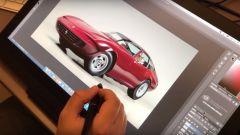 Ferrari Daytona: TheSketchMonkey al lavoro sul rendering