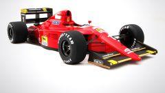 Ferrari F1 90 641 di Prost e Mansell: visuale di 3/4 anteriore
