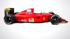 Ferrari F1 90 641 di Prost e Mansell: visuale laterale