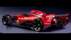 Ferrari F1 Concept: ruote e abitacolo scoperti e forme veramente sexy