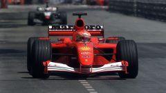Ferrari F2001 di Michael Schumacher in azione a Montecarlo