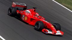Ferrari F2001 di Michael Schumacher in azione