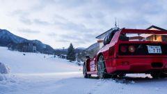 Ferrari F40: storia di drift sulla neve - Immagine: 6