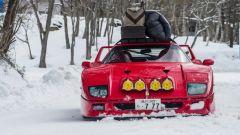 Ferrari F40: storia di drift sulla neve - Immagine: 1