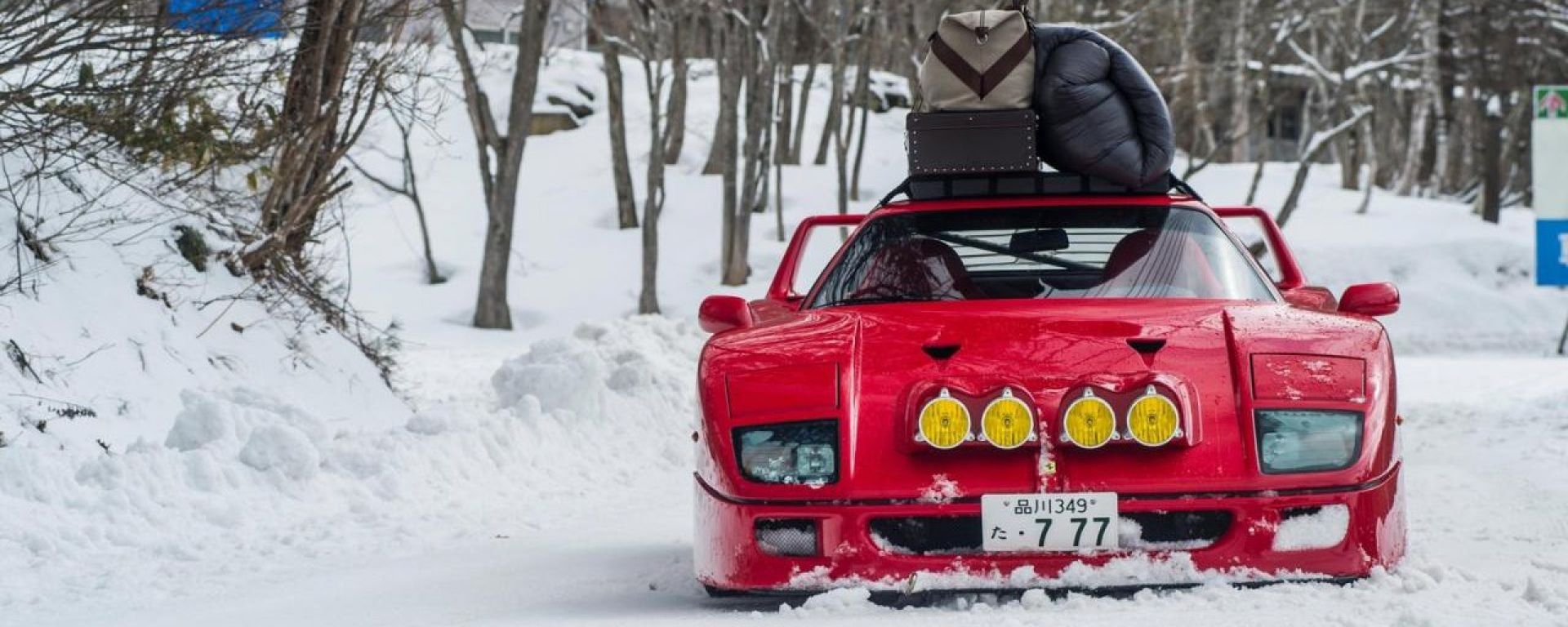 Ferrari F40: storia di drift sulla neve