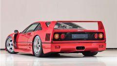 Ferrari F40: vista 3/4 posteriore