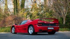 Ferrari F50 Berlinetta Prototipo: visuale di 3/4 posteriore