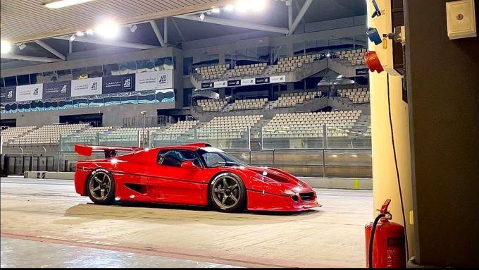Ferrari F50 GT1 allo Yas Marina Circuit