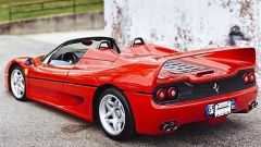 Ferrari F50: vista 3/4 posteriore