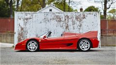 Ferrari F50: vista laterale