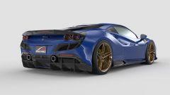 Ferrari F8 Tributo by 1016 Industries: i pezzi in fibra di carbonio applicati alla coda