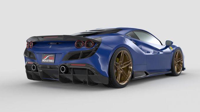 Ferrari F8 Tributo by 1016 Industries: la supercar con pezzi di carbonio stampati 3D