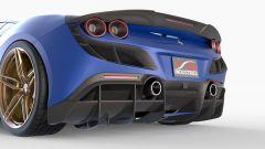 Ferrari F8 Tributo by 1016 Industries: un dettaglio dell'estrattore e dei tubi di scarico