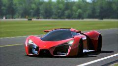 Ferrari F80 Concept: rendering in pista