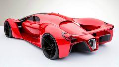 Ferrari F80 Concept: vista 3/4 posteriore