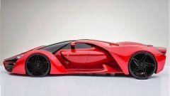 Ferrari F80 Concept: vista laterale