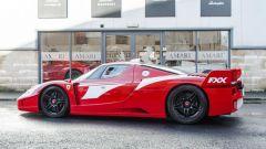 Ferrari FXX convertita stradale: vista 3/4 posteriore
