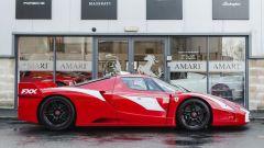 Ferrari FXX convertita stradale: vista laterale