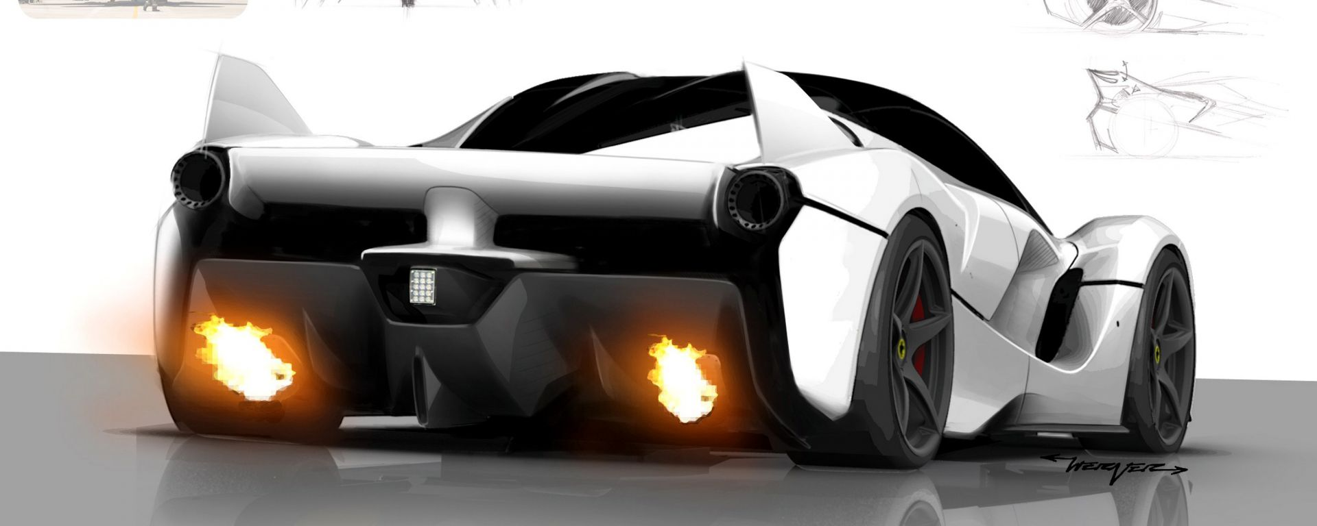 Ferrari FXX K, la genesi del design