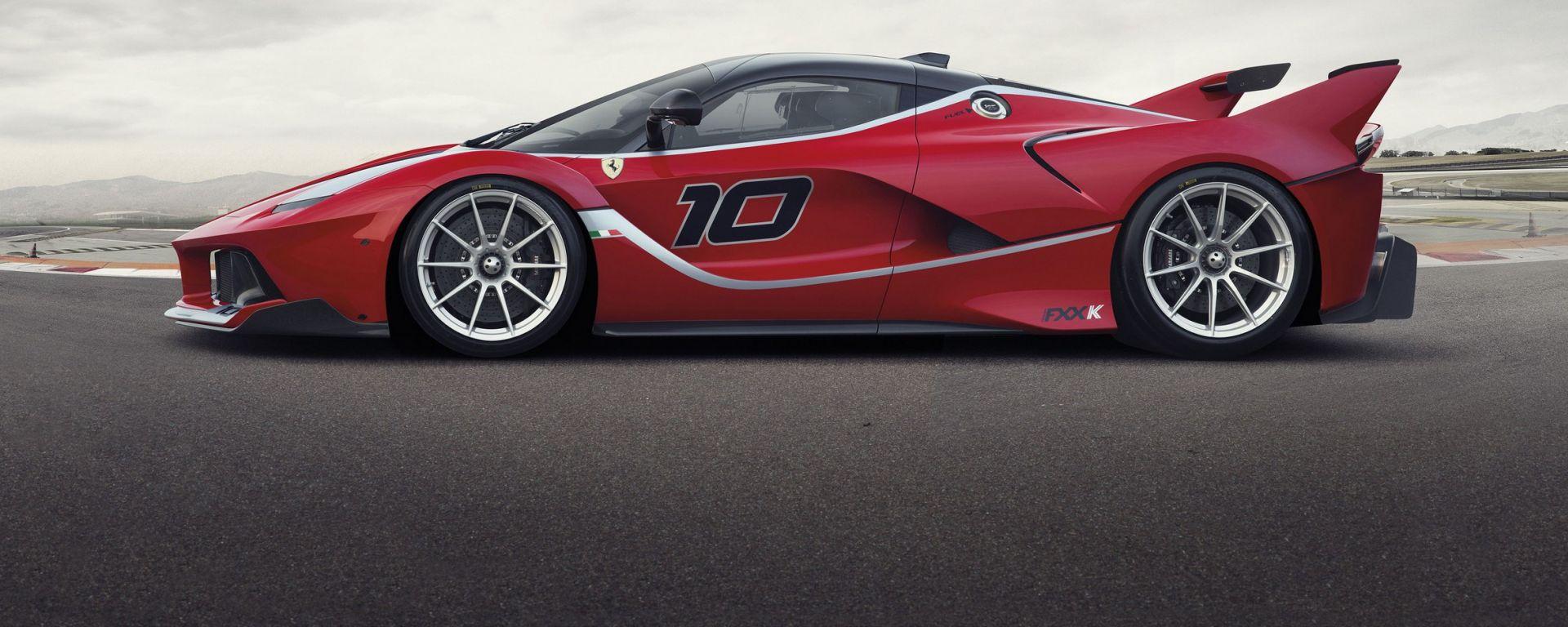 Ferrari FXX K: vista laterale