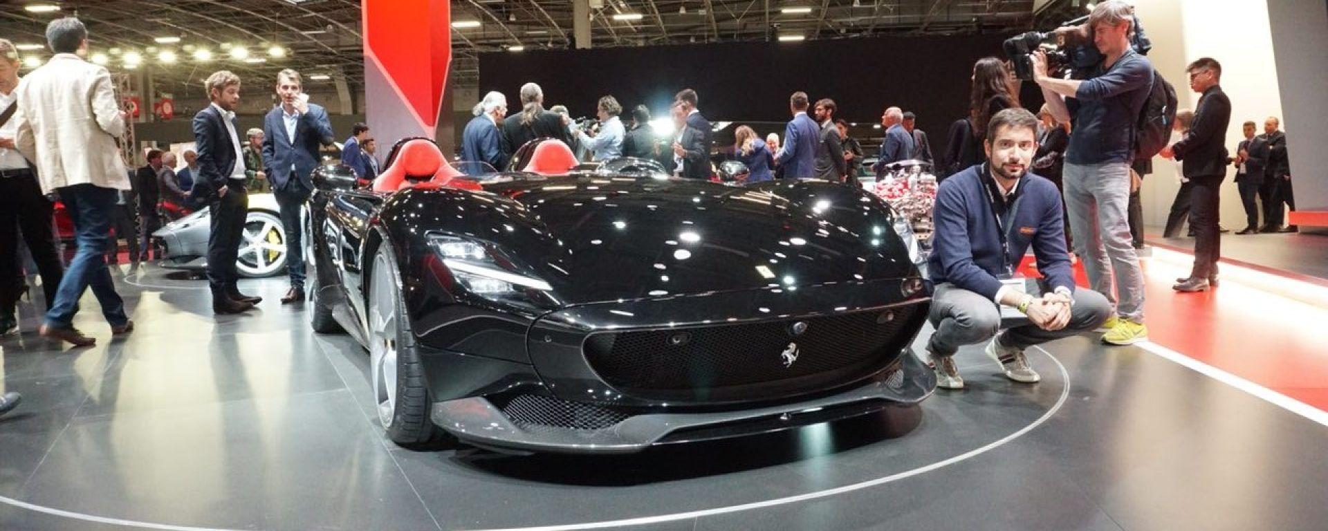 Ferrari Monza SP1 e SP2: in video dal Salone di Parigi 2018