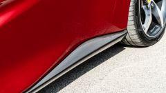 Ferrari Portofino M, dettaglio della fiancata e della minigonna