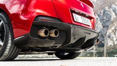 Ferrari Portofino M, dettaglio dell'estrattore, si intravede il fondo piatto