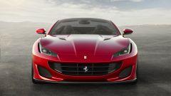 Ferrari  Portofino: vista frontale. Si notino le prese d'aria ai lati dei proiettori