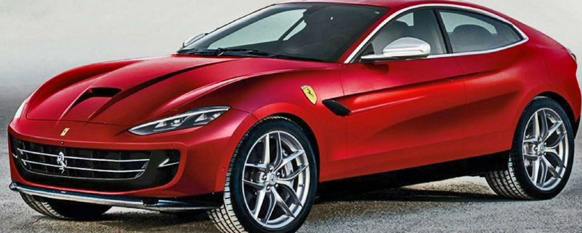 Ferrari Purosangue, il render del designer E. Milano