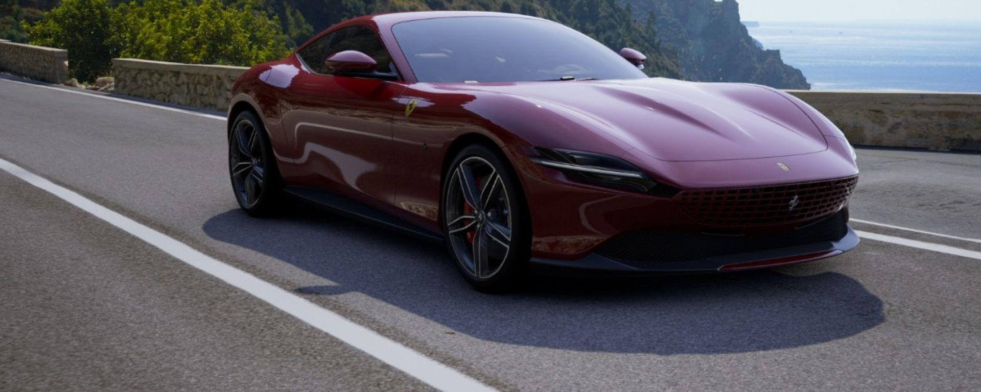 Ferrari Roma, il configuratore: il risultato finale. 3/4 anteriore