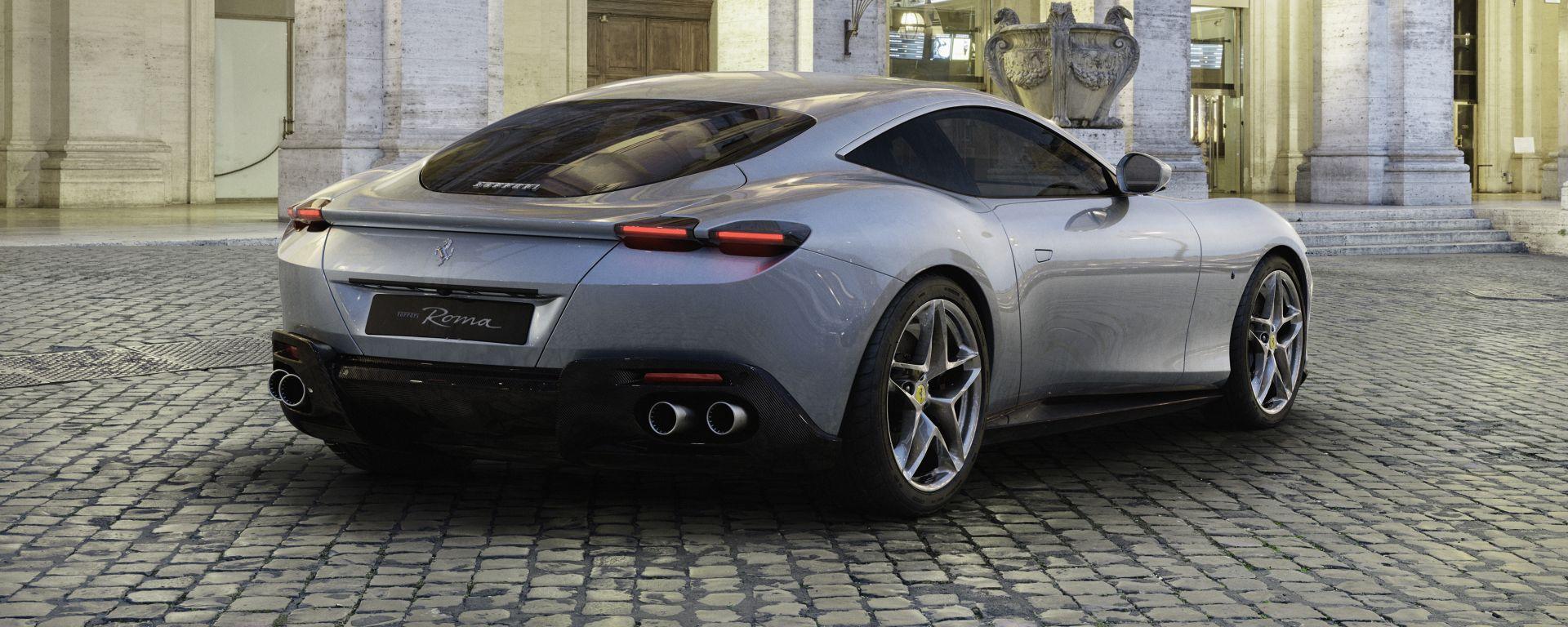 Ferrari Roma il posteriore