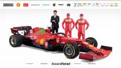 Ferrari SF21 - Mattia Binotto, Charles Leclerc, Carlos Sainz