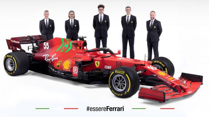 Ferrari SF21 - Mattia Binotto, Enrico Cardile, Enrico Gultieri, Laurent Mekies
