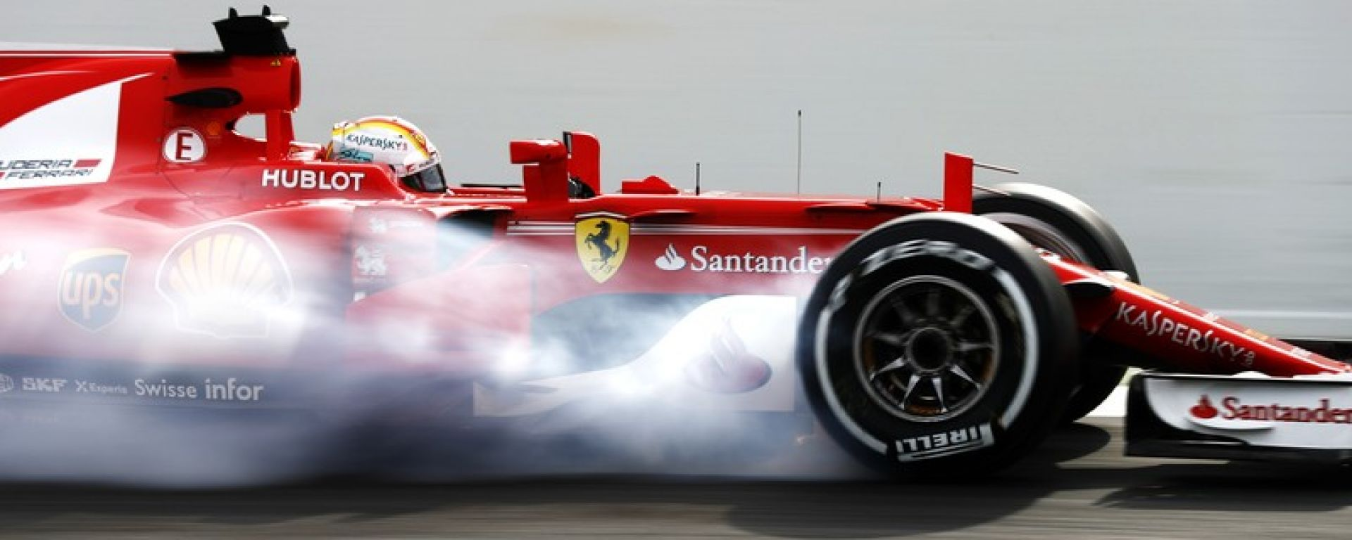 Ferrari SF70H Brembo lock-up