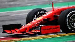 Ferrari SF90, il dettaglio dell'ala anteriore nei test F1 di Barcellona