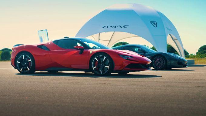 Ferrari SF90 Stradale vs Rimac Nevera: la drag race