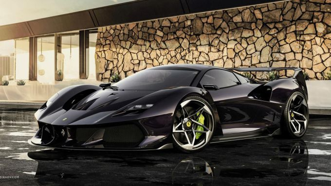 Ferrari SP42: l'erede della F40 immaginata da Samir Sadikhov in versione nera