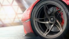 Ferrari Stallone, dettaglio del cerchio a 5 razze volventi e sdoppiate