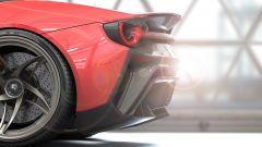 Ferrari Stallone, dettaglio della coda