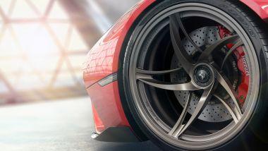 Ferrari Stallone, dettaglio della ruota