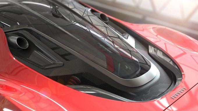 Ferrari Stallone, il vano motore