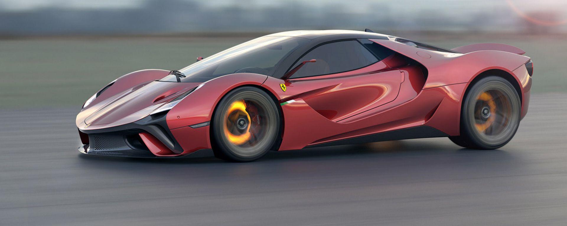 Ferrari Stallone in movimento