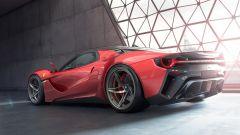 Ferrari Stallone, vista 3/4 posteriore