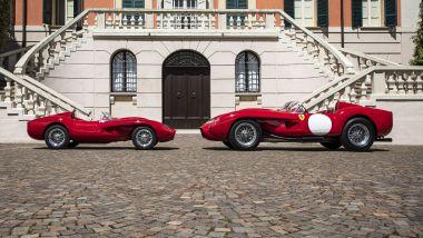Ferrari Testa Rossa J a confronto con la vera Ferrari Testa Rossa del 1957