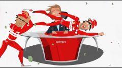 Ferrari: un cartoon per festeggiare i 10 milioni di fans su FB - Immagine: 1