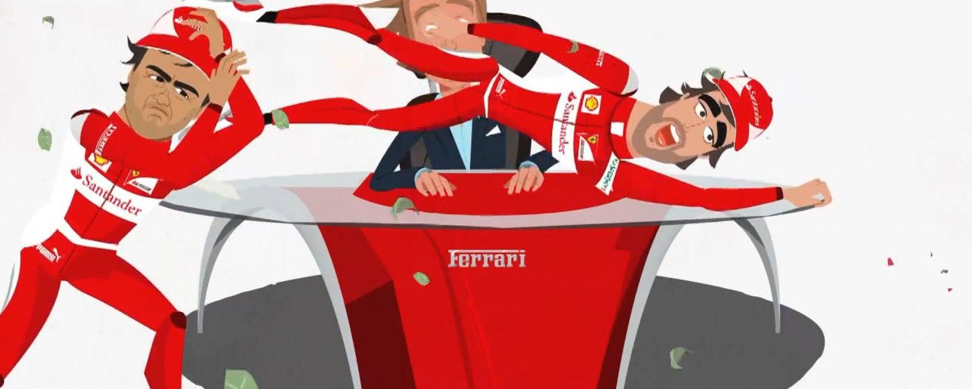 Ferrari: un cartoon per festeggiare i 10 milioni di fans su FB