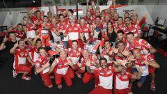 Festeggiamenti nel box Ducati
