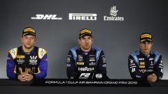 FIA F2 GP Bahrain 2019, gara-1, Ghiotto, Latifi e Sette Camara in conferenza